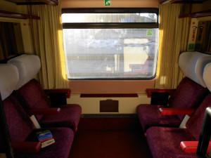 Como Comprar Passagens de Trem Baratos - Salão 4 assentos em Eurocités