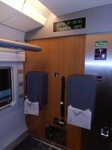 AVE, asientos para movilidad reducida