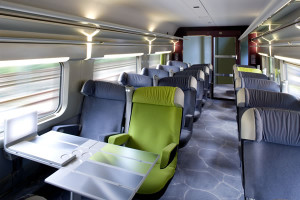 TGV Lyria, asientos 1ra clase