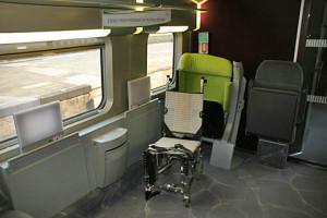 Espacio para silla de ruedas en el SNCF