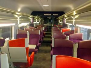 Vagon 2da clase, TGV Lyria
