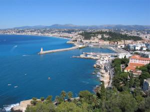 Vista panorámica Niza, en la Costa Azul