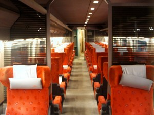 Vagon 1ra clase en Thalys
