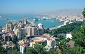 Vista panorâmica de Málaga