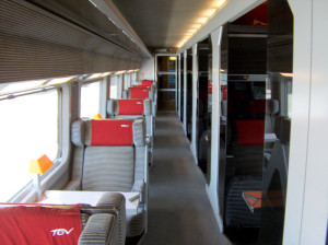 TGV Duplex, piso superior do trem