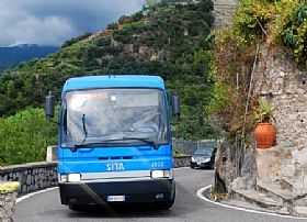 Autobus a Amalfi