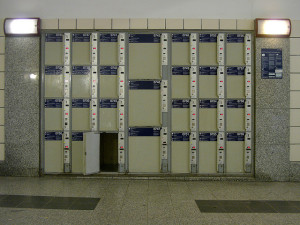 Depósito de bagagens em Berlin Hbf