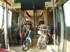 Vagão de bicicletas no InterCity