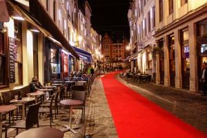 Centro de Bruselas de noche