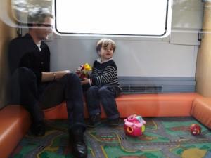 Algunos Intercités tienen areas para niños