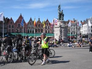Bicicletas en Grote Markt (Plaza del Mercado)