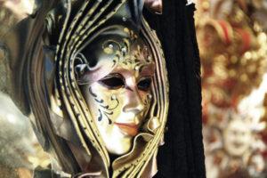 Mascara de carnaval veneciano
